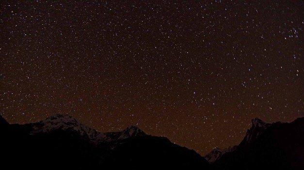 Annapurnas Starry Night Chomrong