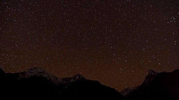 Annapurnas Starry Night Chomrong