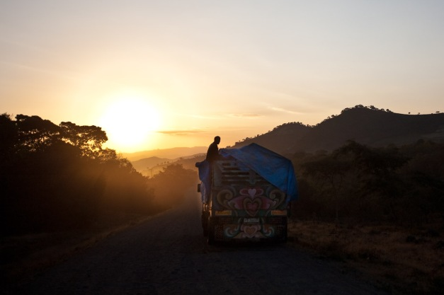 Truck at Sunrise
