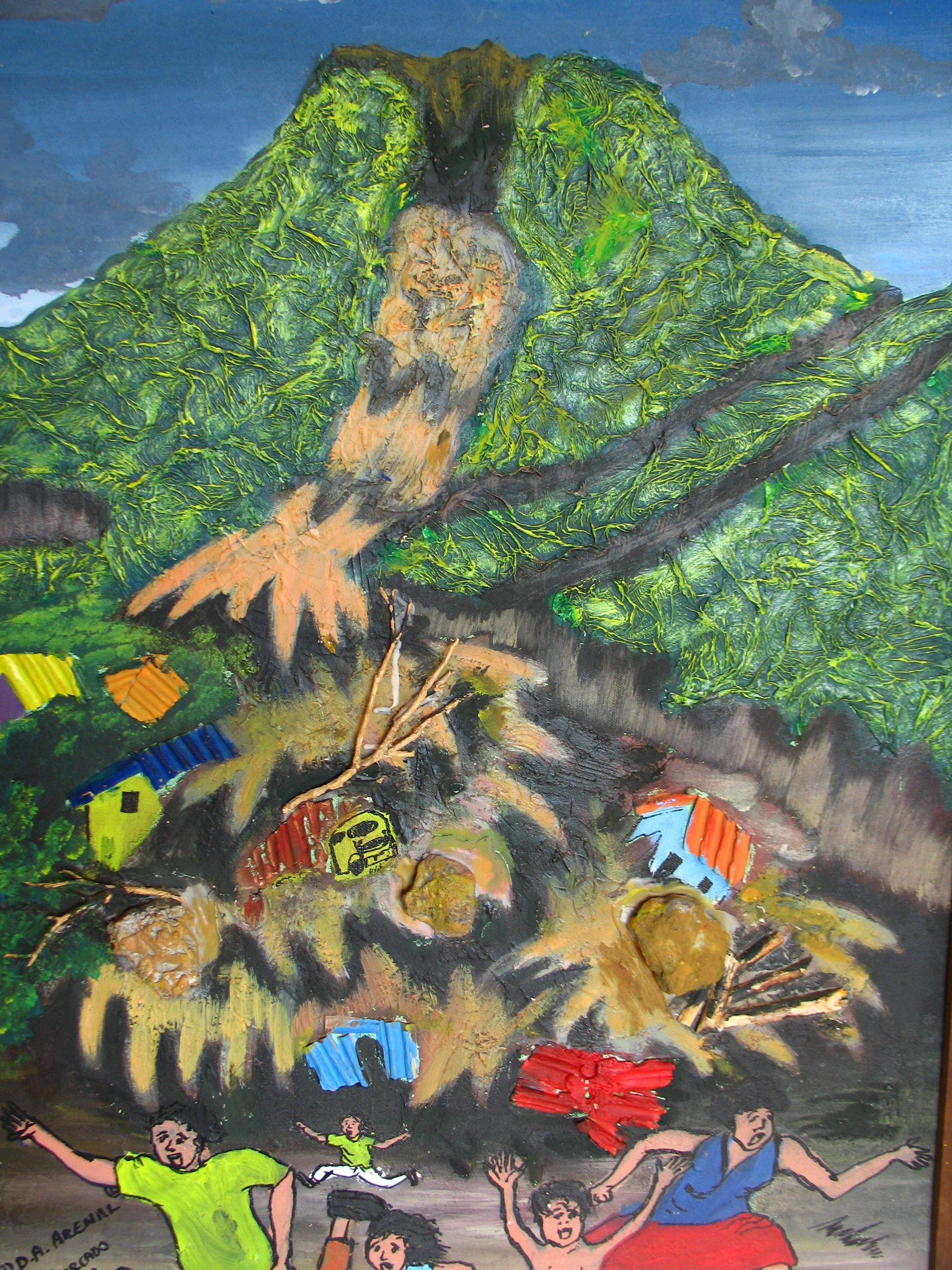 community artwork as part of an ngo drr program in latin america