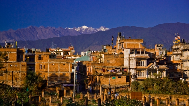 Ramshackle apartment buildings on the edge of Thamel, Kathmandu's old city, in 2007.