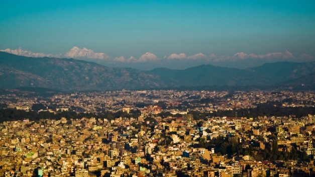 Kathmandu skyline, 2007